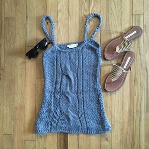 BCBG To The Max Cableknit Angora Blnd Sweater Tank